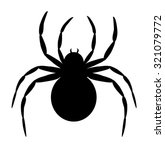 Silhouette Of Black Spider...