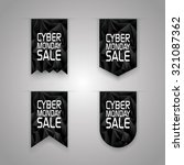 cyber monday sale ribbon... | Shutterstock .eps vector #321087362