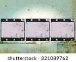 high detailed grunge film frame ...   Shutterstock . vector #321089762