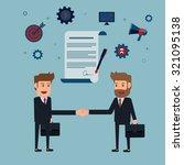 businessman handshake and... | Shutterstock .eps vector #321095138