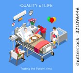 vector medical hospital bed... | Shutterstock .eps vector #321096446