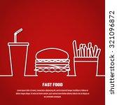vector illustration of outline... | Shutterstock .eps vector #321096872