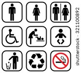 people icon set . toilet... | Shutterstock .eps vector #321100892