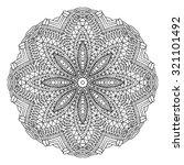 white ethnic mandala.vector... | Shutterstock .eps vector #321101492