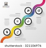 abstract colorful business path.... | Shutterstock .eps vector #321106976
