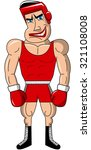 boxer wearing headgear and... | Shutterstock .eps vector #321108008