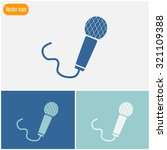 microphone vector icon. | Shutterstock .eps vector #321109388