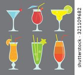 vector set with cocktails | Shutterstock .eps vector #321109682