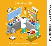 isometric vector science clinic ... | Shutterstock .eps vector #321109922