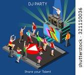 just dance disco music dj party ... | Shutterstock .eps vector #321110036