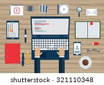 concept of business planning... | Shutterstock .eps vector #321110348
