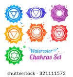 hand drawn watercolor... | Shutterstock . vector #321111572