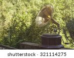 old vintage gramophone in a... | Shutterstock . vector #321114275