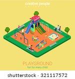 Children Playground Flat 3d...