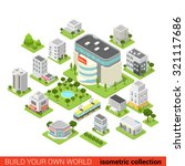 flat 3d isometric city building ... | Shutterstock .eps vector #321117686