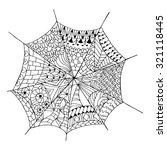 hand drawn spider web for anti... | Shutterstock .eps vector #321118445