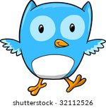 blue owl vector illustration | Shutterstock .eps vector #32112526