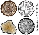 set tree rings background and... | Shutterstock . vector #321127226