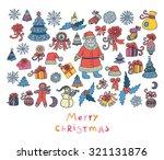vector christmas set | Shutterstock .eps vector #321131876