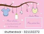 baby announcement | Shutterstock . vector #321132272