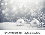 Silver Christmas Balls On Shin...