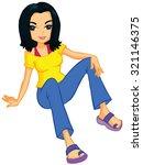 pretty teen   Shutterstock .eps vector #321146375
