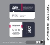 business card template vector... | Shutterstock .eps vector #321146552