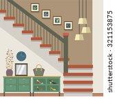 hallway decoration vector...   Shutterstock .eps vector #321153875