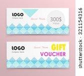 gift voucher background or... | Shutterstock .eps vector #321154316