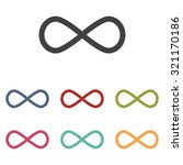 limitless symbol icon | Shutterstock . vector #321170186