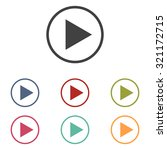 play icon | Shutterstock . vector #321172715