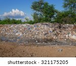 pile of domestic garbage in... | Shutterstock . vector #321175205