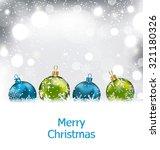 illustration xmas winter... | Shutterstock .eps vector #321180326
