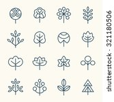 trees icon set | Shutterstock .eps vector #321180506