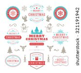 merry christmas and happy new... | Shutterstock .eps vector #321191942