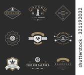 retro logotypes vector set.... | Shutterstock .eps vector #321192032
