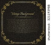 square vintage background with... | Shutterstock .eps vector #321193988