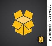box icon on dark background ...   Shutterstock .eps vector #321195182