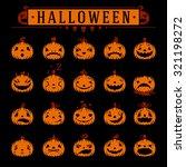 halloween pumpkins objects... | Shutterstock .eps vector #321198272