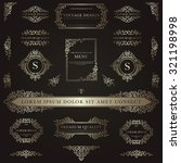 set of golden decorative... | Shutterstock .eps vector #321198998