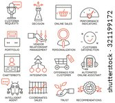 vector set of 16 icons related... | Shutterstock .eps vector #321199172