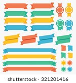 ribbon and labels colorful set. ... | Shutterstock .eps vector #321201416