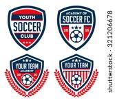football badge   logo set | Shutterstock .eps vector #321206678