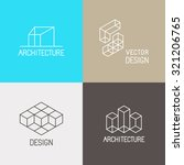 vector set of logo design... | Shutterstock .eps vector #321206765