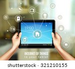 smart home management concept... | Shutterstock .eps vector #321210155