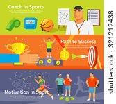 coaching horizontal banner set... | Shutterstock .eps vector #321212438