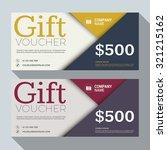 gift voucher vector design... | Shutterstock .eps vector #321215162