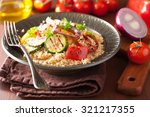 healthy couscous salad with... | Shutterstock . vector #321217355