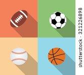sport balls set  vector flat... | Shutterstock .eps vector #321226898