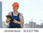 civil engineer at the... | Shutterstock . vector #321227786